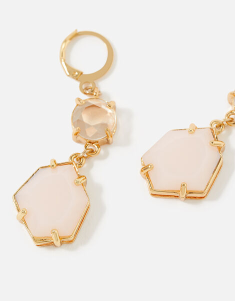 Country Retreat Double Gem Earrings Pink, Pink (PINK), large