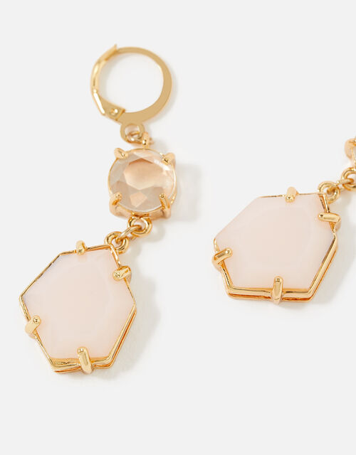 Country Retreat Double Gem Earrings, Pink (PINK), large