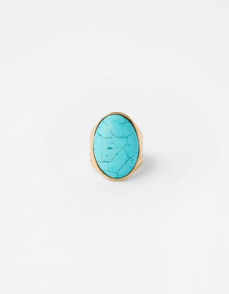 Statement Turquoise Ring Blue, Blue (TURQUOISE), large