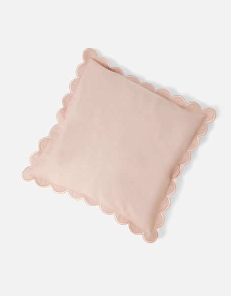 Scallop Edge Cushion Cover Pink, Pink (PALE PINK), large