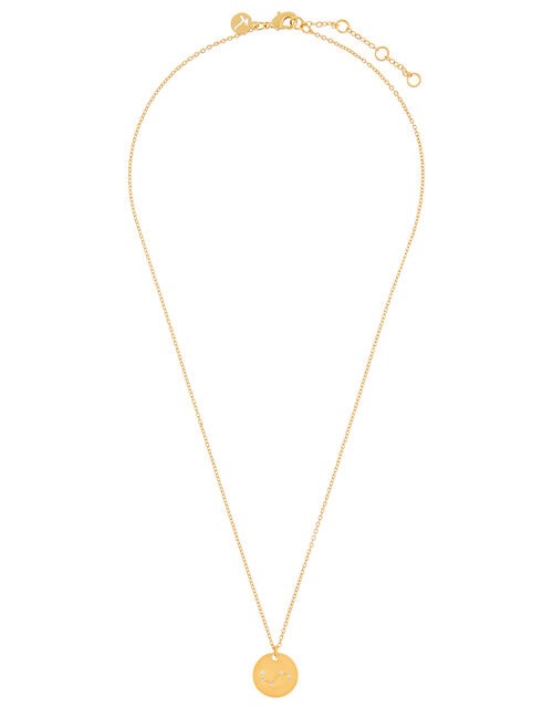 Gold-Plated Constellation Necklace - Aries, , large
