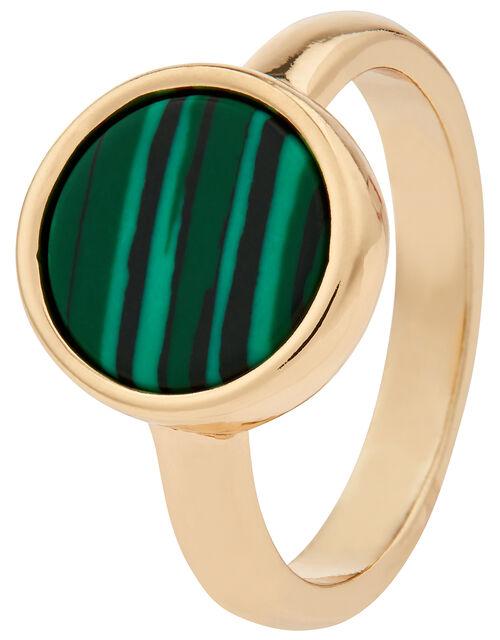 Flat Stone Ring, Green (GREEN), large