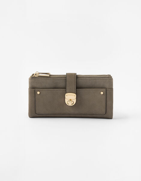 Freya Push Lock Wallet  Grey, Grey (GREY), large