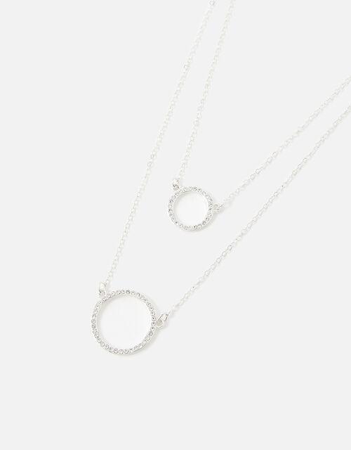 Midnight Sky Circle Pave Multirow Necklace, , large