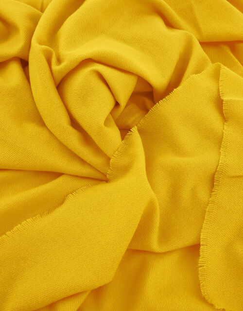 Wells Blanket Scarf Bright Yellow, , large