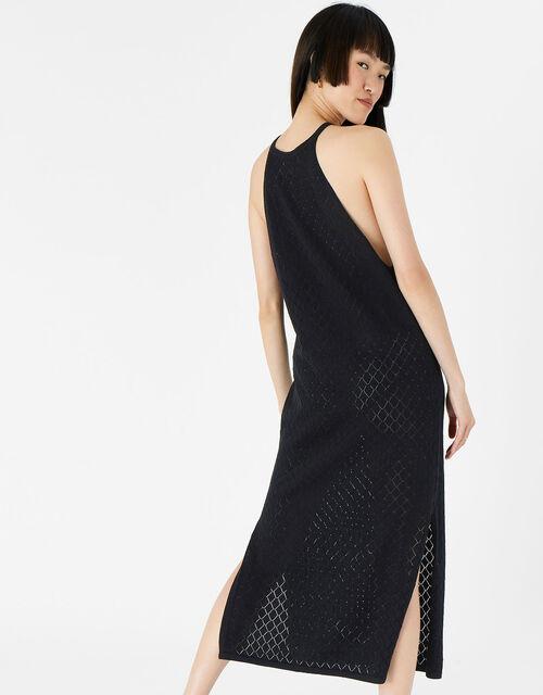 Knit Midi Dress , Black (BLACK), large