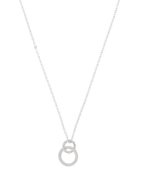 Linked Circle Pendant Necklace, , large