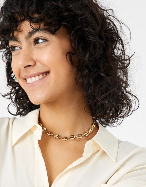 Coffee Bean Chain Necklace, , large