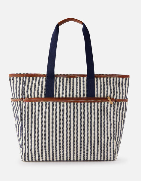 Stripe Large Picnic Bag, , large