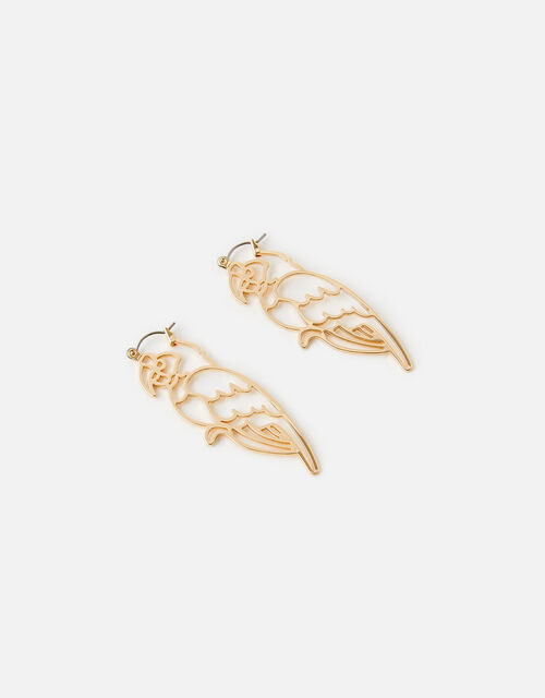 Island Vibe Cut-Out Parrot Earrings, , large