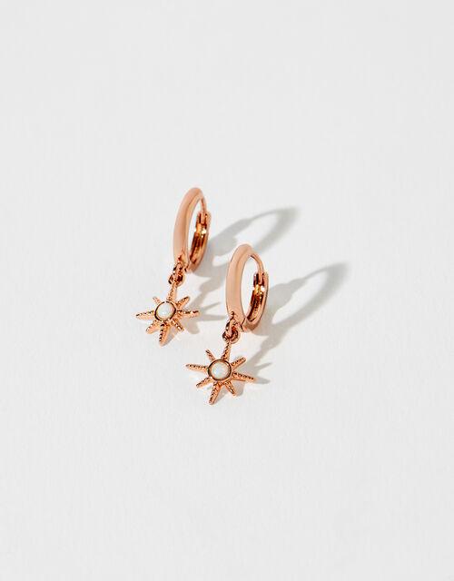 Rose Gold-Plated Starburst Earrings, , large