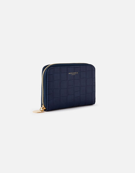 Croc Medium Zip Wallet Blue, Blue (NAVY), large