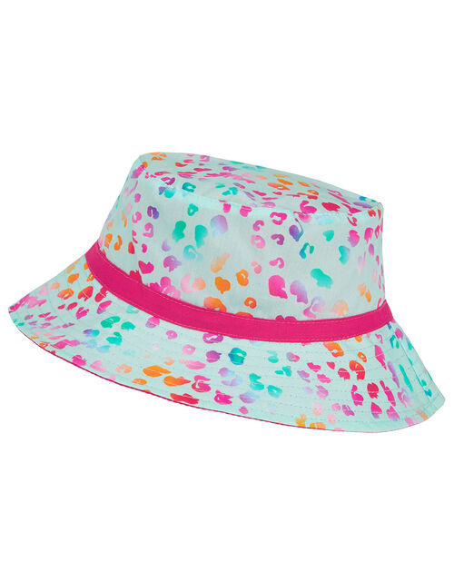 Animal Print Reversible Bucker Hat, Multi (BRIGHTS-MULTI), large