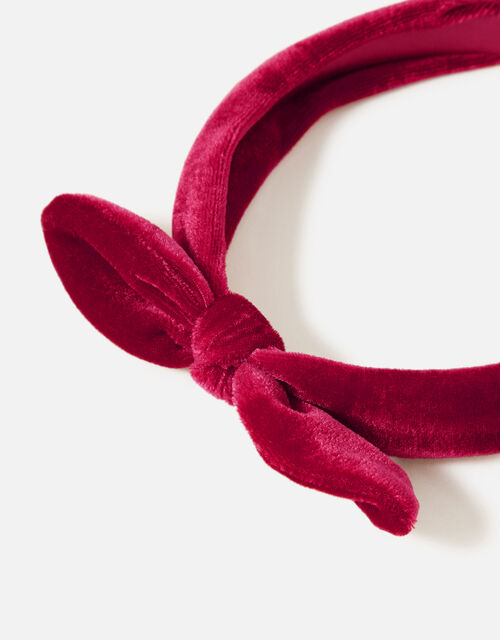 Velvet Bow Headband , , large