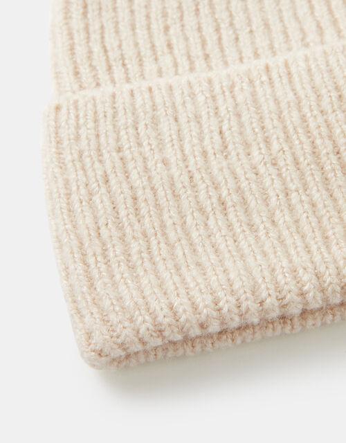 Soho Knit Beanie Hat, Natural (NATURAL), large