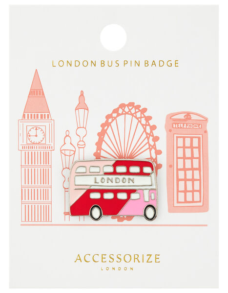 London Bus Pin Badge, , large