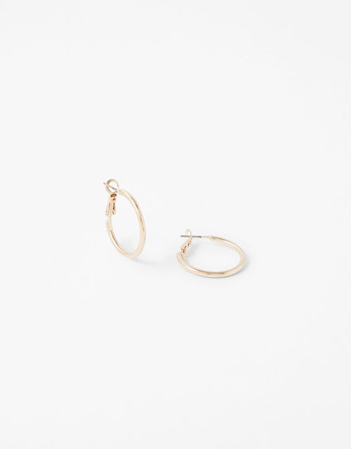 Small Simple Hoop Earrings, , large