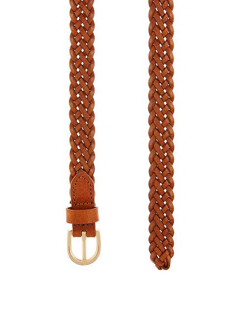 Plaited Belt, Tan (TAN), large