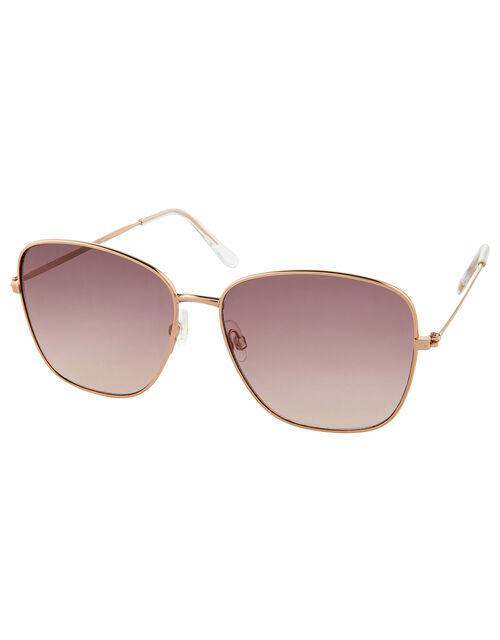 Skyla Square Metal Sunglasses, , large