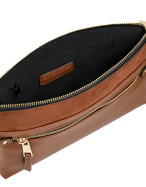 Cross-Body Envelope Bag, Tan (TAN), large