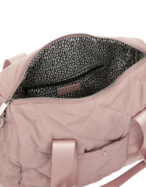 Becca Quilted Duffle Bag, Pink (PINK), large