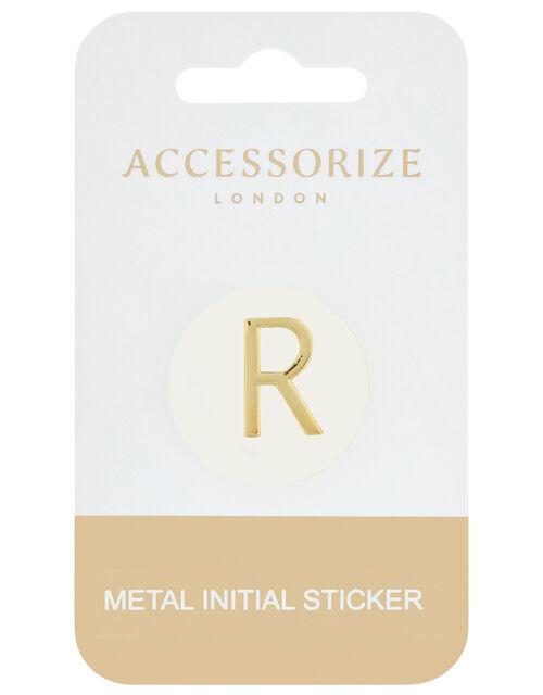 Metallic Initial Sticker - R, , large