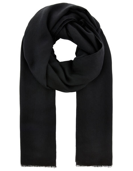 Sorrento Lightweight Scarf Black, Black (BLACK), large
