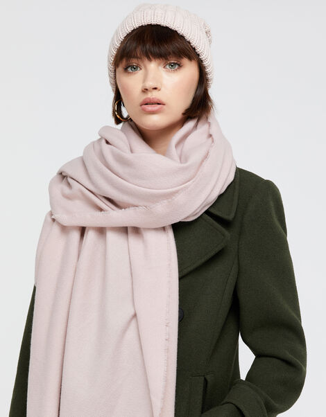 Wells Supersoft Blanket Scarf Pale Pink, , large