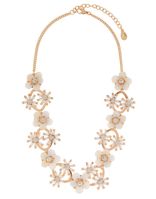 Daisy Chain Statement Collar Necklace, , large