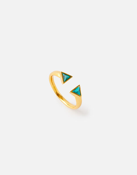 Healing Stones Gold-Plated Ring - Turquoise Gold, Gold (GOLD), large