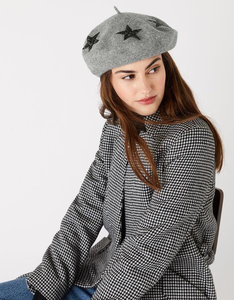 WISH UPON A STAR Beret Grey, Grey (GREY), large