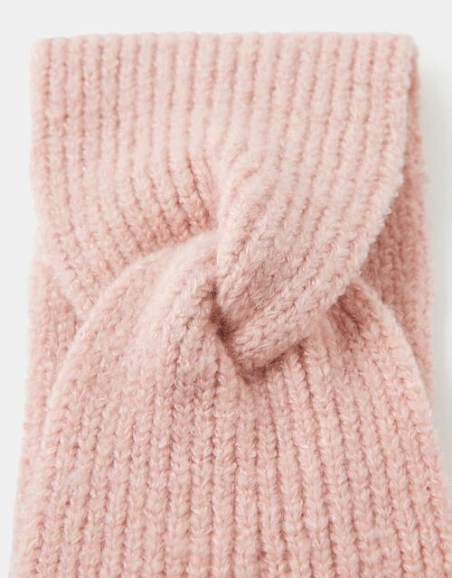Knit Bando Headband, Pink (PALE PINK), large