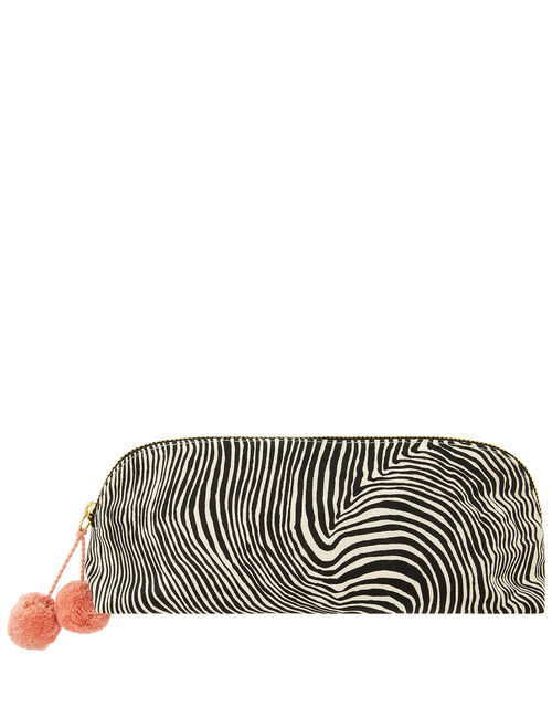 Zebra Print Pencil Case, , large