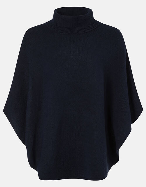 Cosy Knit Poncho, , large