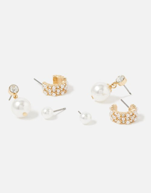 Berry Blush Pearly Earring Set, , large