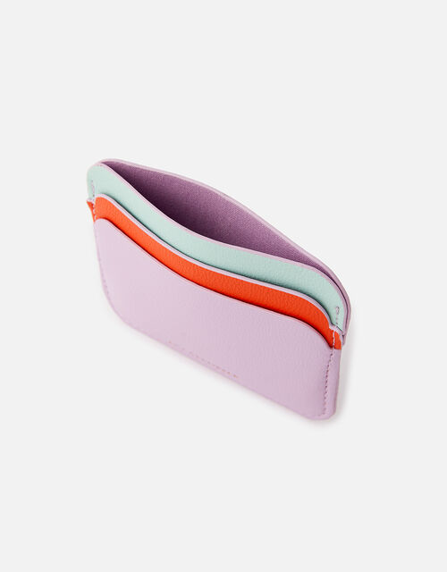 Curve Colour-Block Card Holder , Purple (LILAC), large