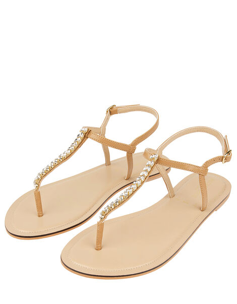 Nude Crystal Sandals White, White (CRYSTAL), large