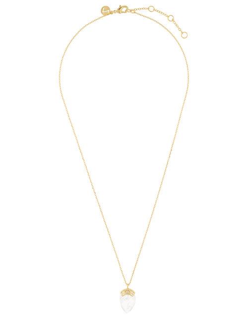 Healing Stones Necklace - Clear Quartz, , large