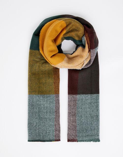 Large Check Blanket Scarf, , large