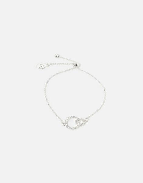 Berry Blush Linked Circles Pave Bracelet , , large