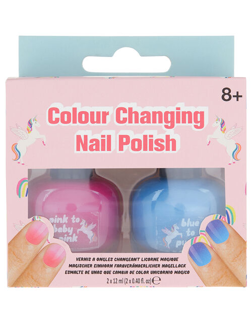 Retro Unicorn Colour-Changing Nail Polish, , large