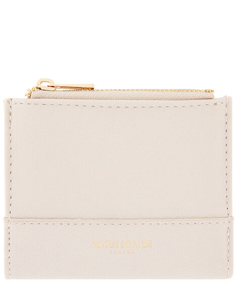 Bella Double Zip Wallet Nude, Nude (NUDE), large