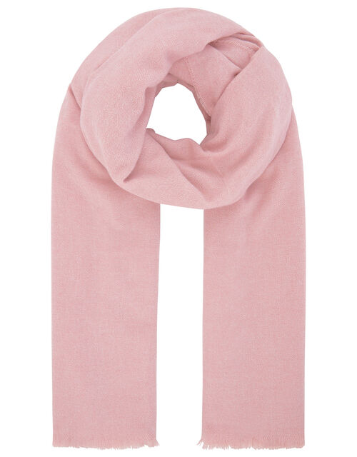Wells Blanket Scarf Pale Pink, , large