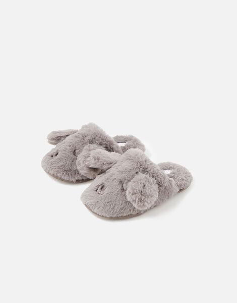 Girls Puppy Fluffy Mule Slippers Mink, Mink (MINK), large