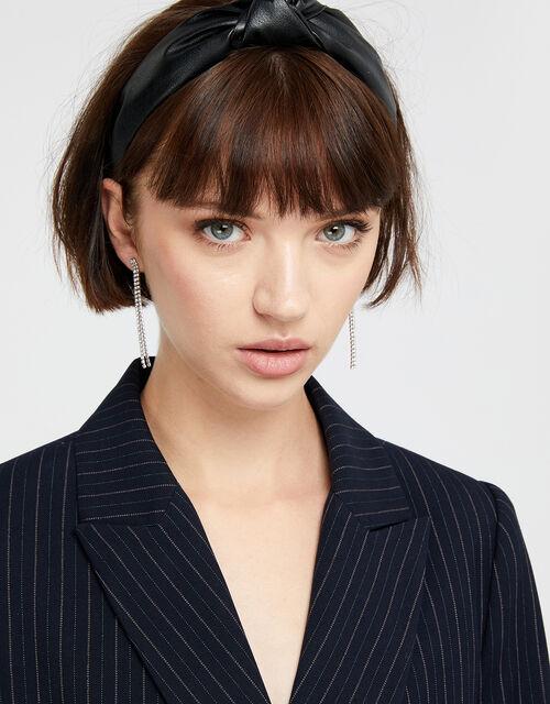Crystal Cupchain Slinky Drop Earrings, , large