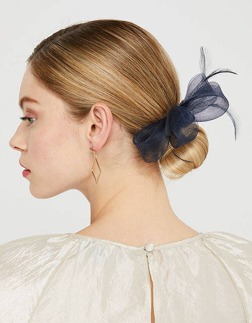 Ella Bow Hair Clip, Blue (NAVY), large