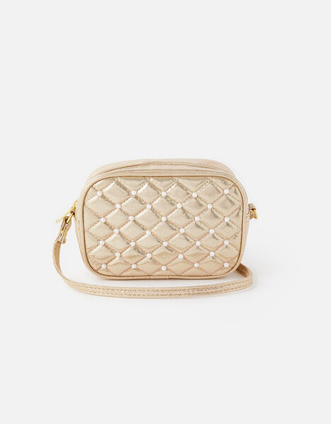 Pearly Quilted Camera Bag, , large