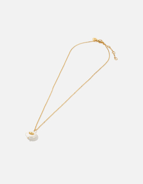 Gold-Plated Pearl Talisman Necklace, , large