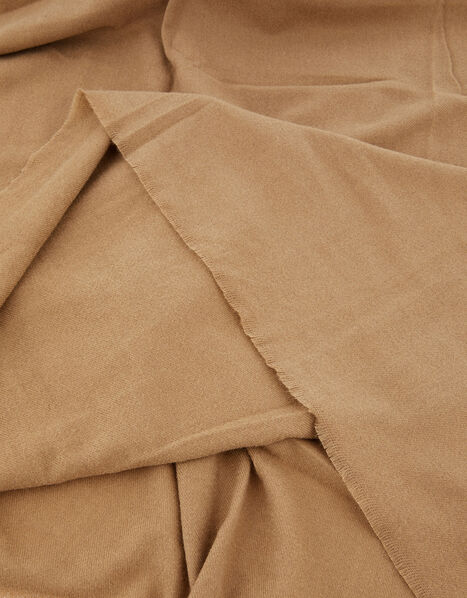 Wells Blanket Scarf Camel, , large