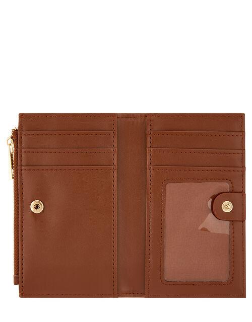 Katy Faux Leather Slim Wallet, Orange (RUST), large